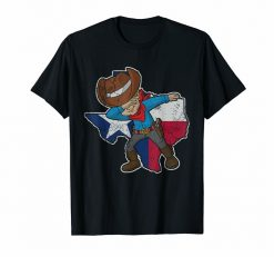 Dabbing Cowboy Texas Shirt Texan Flag Map T Shirt Loose Plus Size Tee Shirt