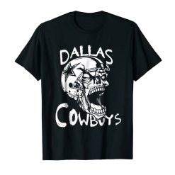 Dallas Football Cowboy Funny Skull Black T shirt For Fans 1