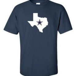 Dallas Texas Navy Graphic Star T Shirt Cowboys Classic State Logo Tee S 5XL New