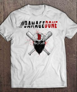 Damagedone B Boston Streetwear Harajuku Red Sox Skull Version Tshirts
