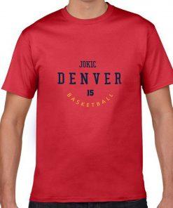 Denver Nuggets Number 15 Nikola Jokic 2019 best selling New men s COTTON Short Shirt for 2