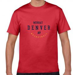 Denver Nuggets Number 27 Jamal Murray 2019 best selling New men s COTTON Short Shirt for 1