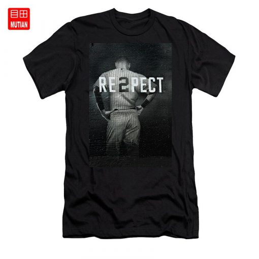 Derek Jeter Ny T Shirt yankees baseball sports derek jeter respect new york city uniforms signs 1