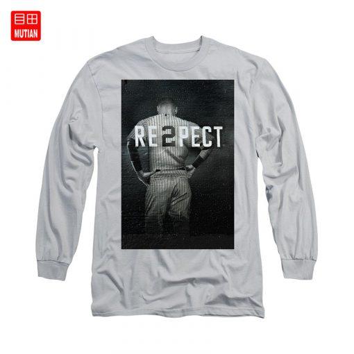 Derek Jeter Ny T Shirt yankees baseball sports derek jeter respect new york city uniforms signs 2