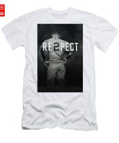 Derek Jeter Ny T Shirt yankees baseball sports derek jeter respect new york city uniforms signs