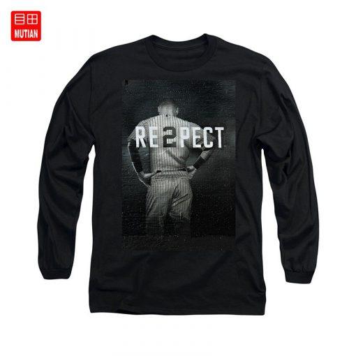 Derek Jeter Ny T Shirt yankees baseball sports derek jeter respect new york city uniforms signs 3
