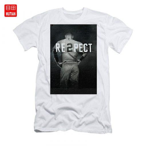 Derek Jeter Ny T Shirt yankees baseball sports derek jeter respect new york city uniforms signs
