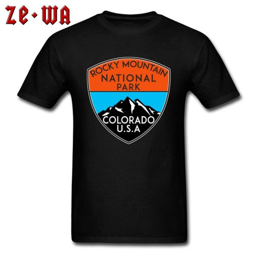 Design Logo Slogan T Shirts For Men Rocky Mountain National Park Colorado Cool T Shirts For