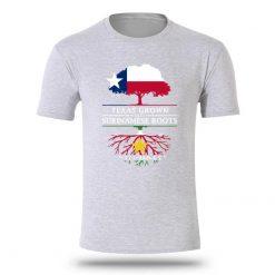 Design Texan Grown With Surinamese Roots Men Tee Shirt Oversize XXXL Knitted Letter T Shirt Men