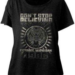 Detroit Journey Classic Rock Band Licensed Concert Tour Juniors Dolman T Shirt