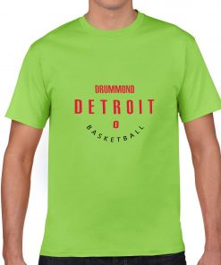 Detroit Pistons NO 0 Andre Drummond Men Basketball Jersey Tee Shirts Fashion Man streetwear tshirt 1
