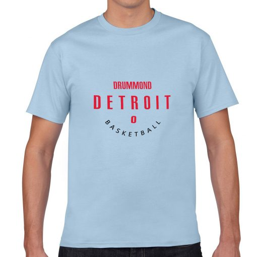 Detroit Pistons NO 0 Andre Drummond Men Basketball Jersey Tee Shirts Fashion Man streetwear tshirt 2