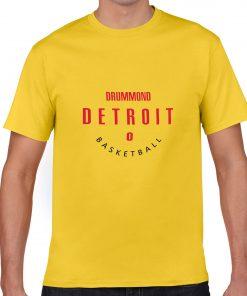 Detroit Pistons NO 0 Andre Drummond Men Basketball Jersey Tee Shirts Fashion Man streetwear tshirt 3