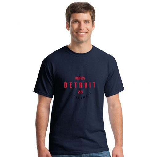 Detroit Pistons NO 23 Blake Griffin Men Basketball Jersey Tee Shirts Fashion Man streetwear tshirt 1