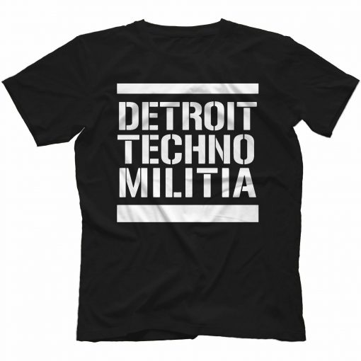 Detroit Techno Militia T Shirt 100 Cotton Vinyl 909 Underground Resistance