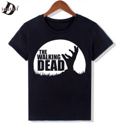 Dingtoll The Walking Dead Fashion T Shirts Women New Funny O Neck Top Letters Tees Hipster