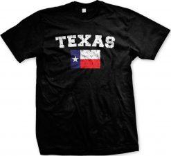 Distressed Texas Flag Texan Pirde The Lonestar State Mens T shirt