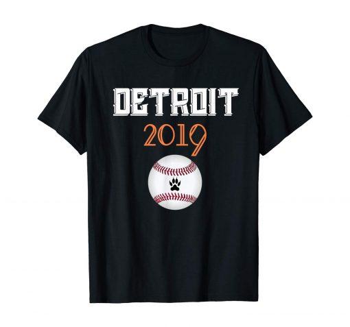 Distressed Tiger Mascoit Tshirt 2019 Detroit Hometown