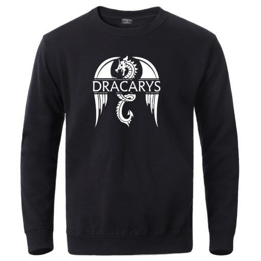 Dracarys Dragon Pullover Mens Winter Game Of Thrones Sweatshirts Hoodies 2020 Autumn Winter Long Sleeve Tracksuits