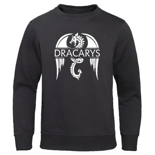 Dracarys Mens Hoodie Game Of Thrones Hoodies Sweatshirts Male Fashion Hoody Harajuku Unisex Sweatshirt Casual Autumn 1