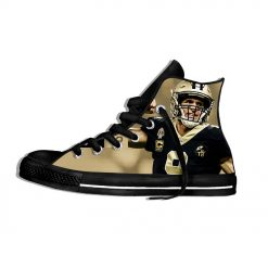 Drew Brees New Orleans Football Star FansFashion Lightweight High Top Canvas Shoes Men Women Casual Breathable 1