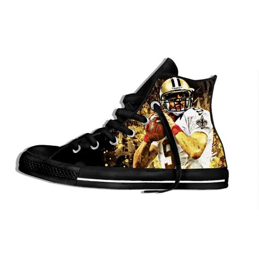 Drew Brees New Orleans Football Star FansFashion Lightweight High Top Canvas Shoes Men Women Casual Breathable 2
