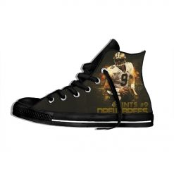Drew Brees New Orleans Football Star FansFashion Lightweight High Top Canvas Shoes Men Women Casual Breathable