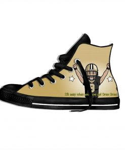 Drew Brees New Orleans Football Star FansFashion Lightweight High Top Canvas Shoes Men Women Casual Breathable 4