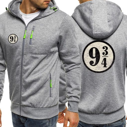 Dropshipping USA Train To Hogwarts 934 Zipper Hoodie Harry Potter Spring Casual Printing Long Sleeve Hooded 1
