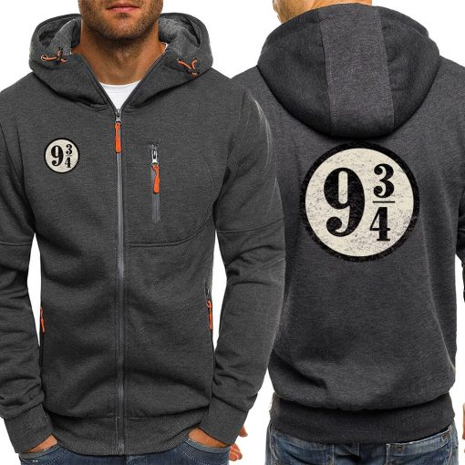 Dropshipping USA Train To Hogwarts 934 Zipper Hoodie Harry Potter Spring Casual Printing Long Sleeve Hooded 2