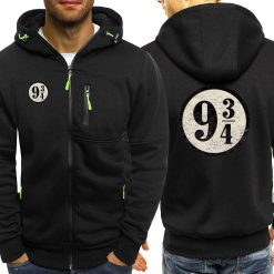 Dropshipping USA Train To Hogwarts 934 Zipper Hoodie Harry Potter Spring Casual Printing Long Sleeve Hooded