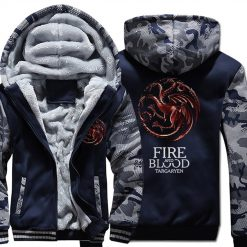 FIRE AND BLOOD Print Hoodies For Men 2019 Autumn Winter Streetwear Mens Sweatshirts Game Of Thrones 1