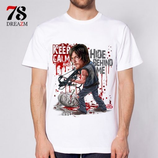 Fashion 2017 Summer T shirt The Walking Dead no hope men t shirt rise up top