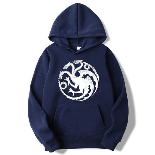 Fashion Brand Men s Hoodies Game of Thrones printing Blended cotton Spring Autumn Male Casual hip 1