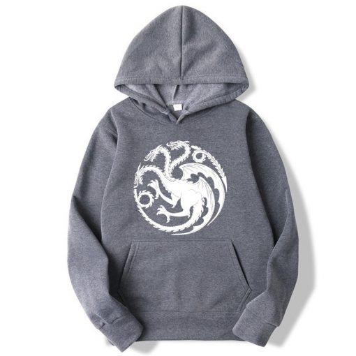 Fashion Brand Men s Hoodies Game of Thrones printing Blended cotton Spring Autumn Male Casual hip 2
