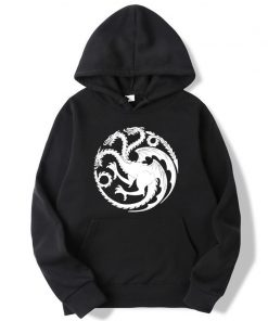 Fashion Brand Men s Hoodies Game of Thrones printing Blended cotton Spring Autumn Male Casual hip