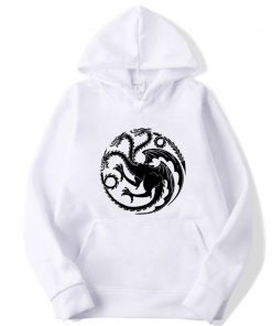 Fashion Brand Men s Hoodies Game of Thrones printing Blended cotton Spring Autumn Male Casual hip 3
