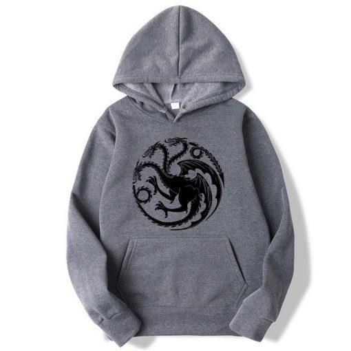Fashion Brand Men s Hoodies Game of Thrones printing Blended cotton Spring Autumn Male Casual hip 4