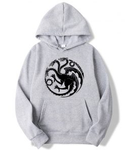 Fashion Brand Men s Hoodies Game of Thrones printing Blended cotton Spring Autumn Male Casual hip 5