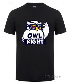 Fashion Custom Harry Casual Tops Cool Boys Stylish Potter Owl right Printed T Shirt men short 1