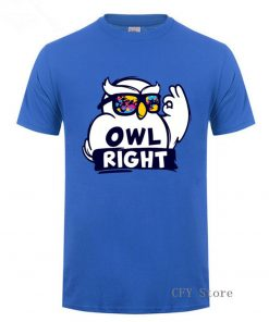 Fashion Custom Harry Casual Tops Cool Boys Stylish Potter Owl right Printed T Shirt men short 2