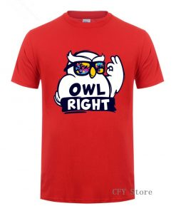 Fashion Custom Harry Casual Tops Cool Boys Stylish Potter Owl right Printed T Shirt men short