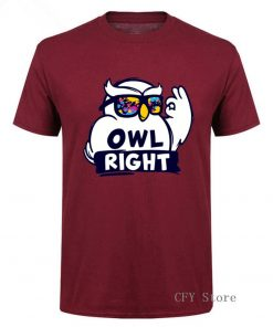 Fashion Custom Harry Casual Tops Cool Boys Stylish Potter Owl right Printed T Shirt men short 3