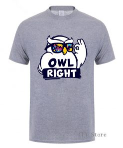 Fashion Custom Harry Casual Tops Cool Boys Stylish Potter Owl right Printed T Shirt men short 4