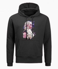Fashion Game Of Thrones Hoodies Daenerys Targaryen Mother Of Dragons Print Hoodie Men Winter Casual Hoodies