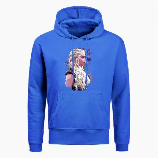 Fashion Game Of Thrones Hoodies Daenerys Targaryen Mother Of Dragons Print Hoodie Men Winter Casual Hoodies 3