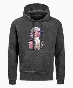 Fashion Game Of Thrones Hoodies Daenerys Targaryen Mother Of Dragons Print Hoodie Men Winter Casual Hoodies 5