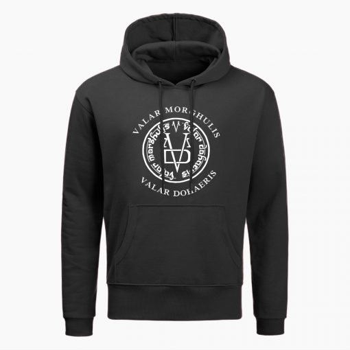 Fashion Game Of Thrones Men Hoodies Sweatshirts Valar Morghulis Valar Dohaeris Print Hoodie Winter Casual Sweatshirt