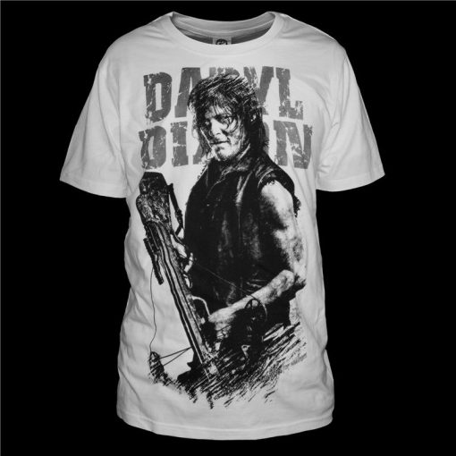Fashion Men T Shirts The Walking Dead New Daryl Dixon T Shirt O Neck Top Tees 1