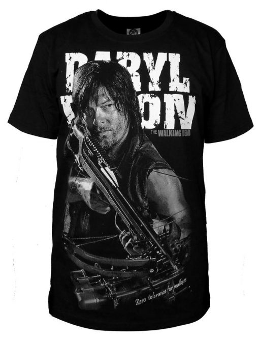 Fashion Men T Shirts The Walking Dead New Daryl Dixon T Shirt O Neck Top Tees 3